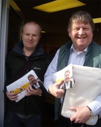 Ed Townsend Campaigning in Newport
